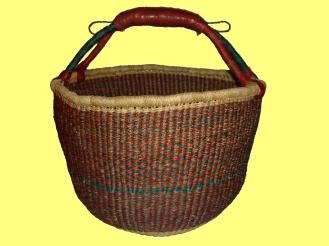 Kleuren: bruin, groen; Diameter: circa 40 cm; Hoogte: circa 25 cm; Prijs: €30